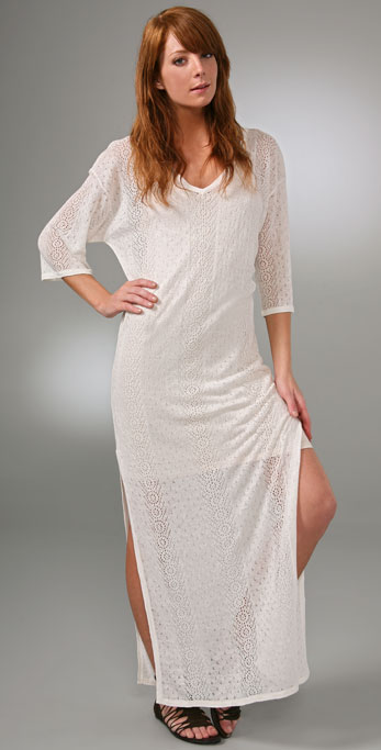 Haute Hippie Pointelle Long Dress