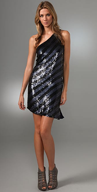 Haute Hippie One Shoulder Sequin Dress