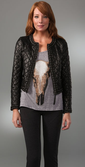 Haute Hippie Quilted Jacket