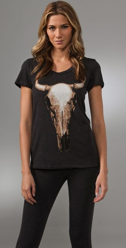 Haute Hippie Longhorn Crew Tee