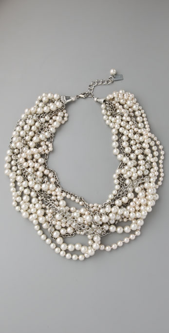 Haute Hippie Twisted Pearl Necklace