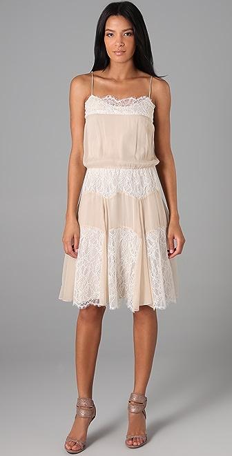 Haute Hippie Lace Overlay Slip Dress