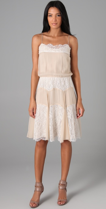 Haute Hippie Lace Overlay Slip Dress