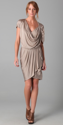 Haute Hippie Drape Front Dress