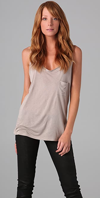 Haute Hippie Kaitlin Racer Back Pocket Tank