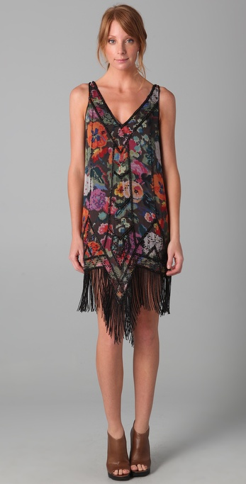 Haute Hippie Gypsy Rose Flapper Dress