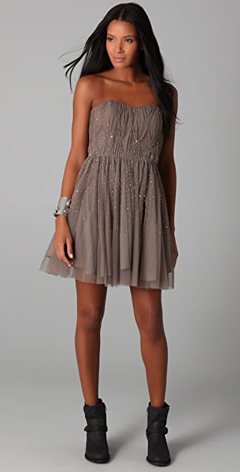 Haute Hippie Sequined Cocktail Dress