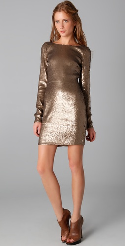 Haute Hippie Drape Back Sequined Dress