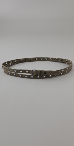 Haute Hippie Canvas Eyelet Belt