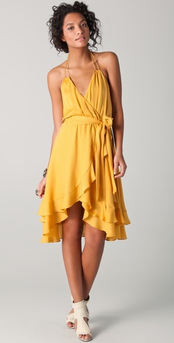 Haute Hippie Halter Dress with Belt