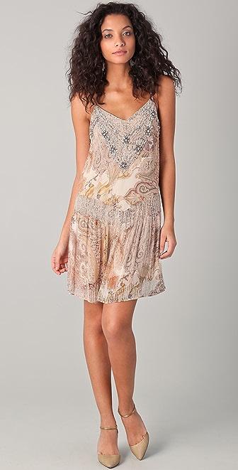 Haute Hippie Layla Beaded Mini Dress