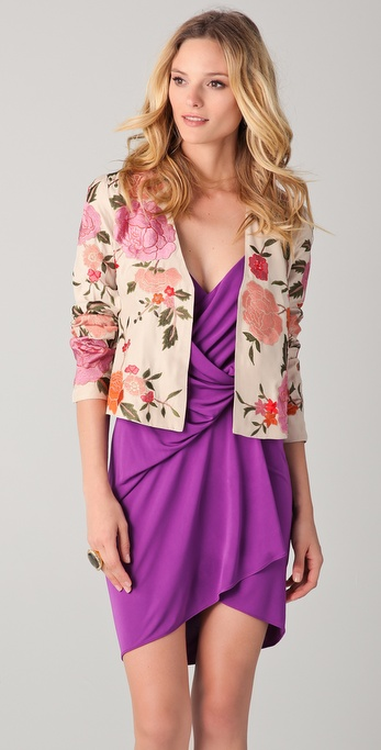 Haute Hippie Floral Threadwork Jacket