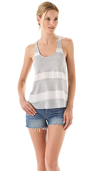 Haute Hippie Racer Back Striped Tank