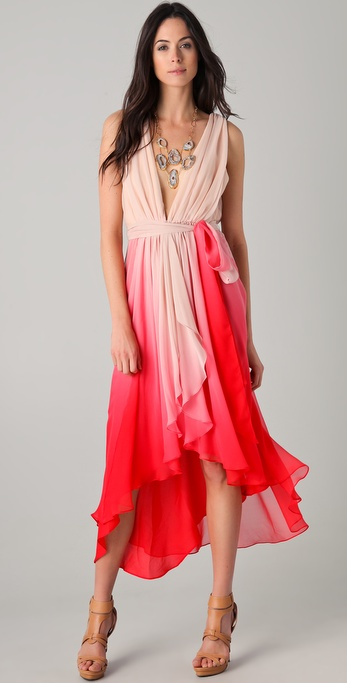 Haute Hippie Chiffon Layered Wrap Dress