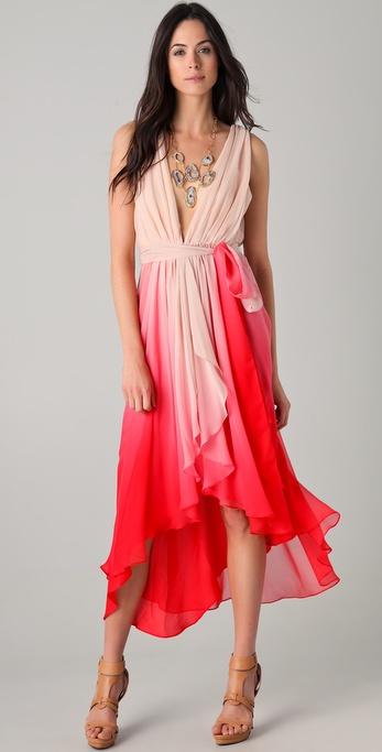 Haute Hippie Chiffon Layered Wrap Dress
