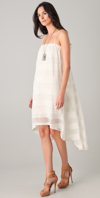 Haute Hippie Striped Hi Low Dress