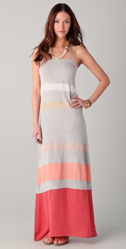 Haute Hippie Multi Striped Maxi Dress
