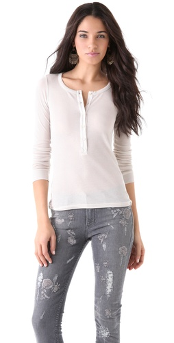Haute Hippie Long Sleeve Henley