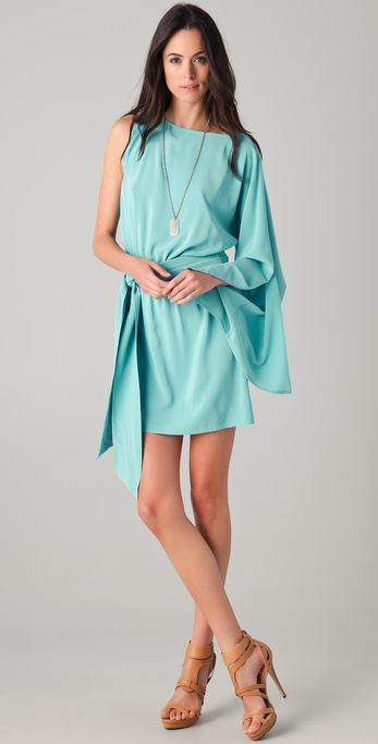 Haute Hippie Batwing One Sleeve Dress