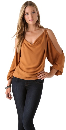 Haute Hippie Cold Shoulder Blouse