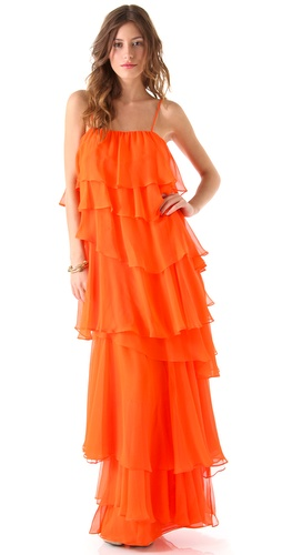 Haute Hippie Ruffle Gown