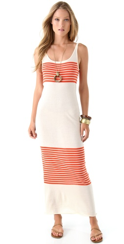 Haute Hippie Striped Maxi Tank Dress