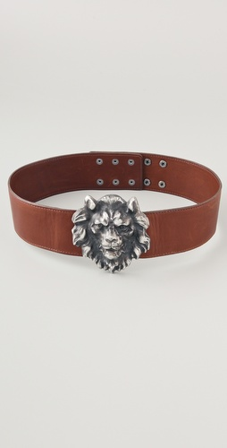 Haute Hippie Lion Head Belt