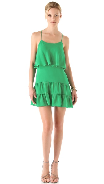 Haute Hippie Ruffle Mini Dress