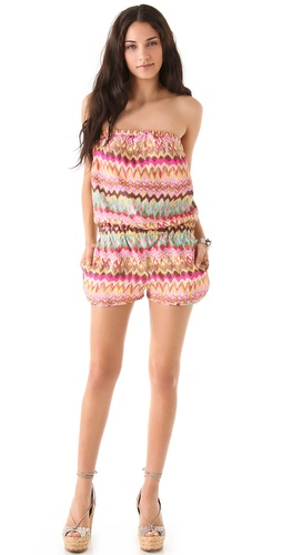 Haute Hippie Strapless Romper