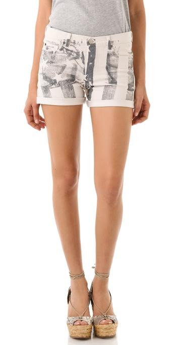Haute Hippie American Flag Shorts