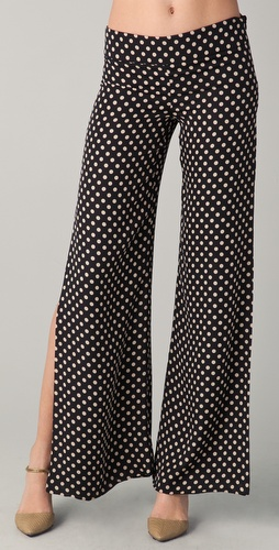 Haute Hippie Wide Leg Polka Dot Pants