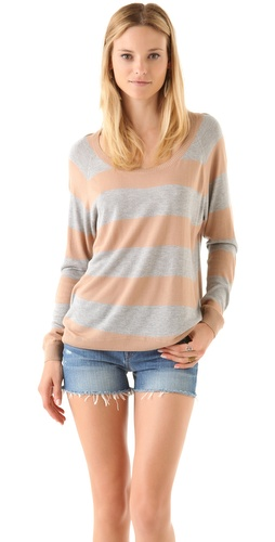 Haute Hippie Striped Sweatshirt
