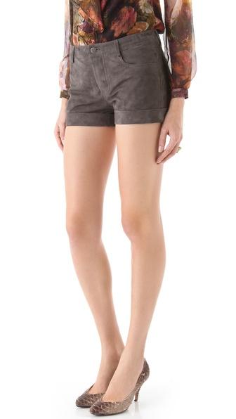 Haute Hippie Suede Shorts