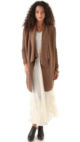 Haute Hippie Cowl Cardigan with Collar