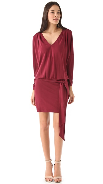 Haute Hippie Belted Dolman Mini Dress