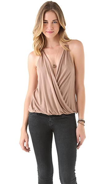 Haute Hippie T Back Draped Tank