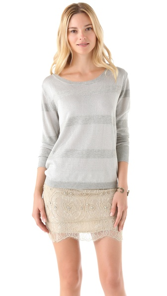 Haute Hippie Deluxe Metallic Striped Sweatshirt