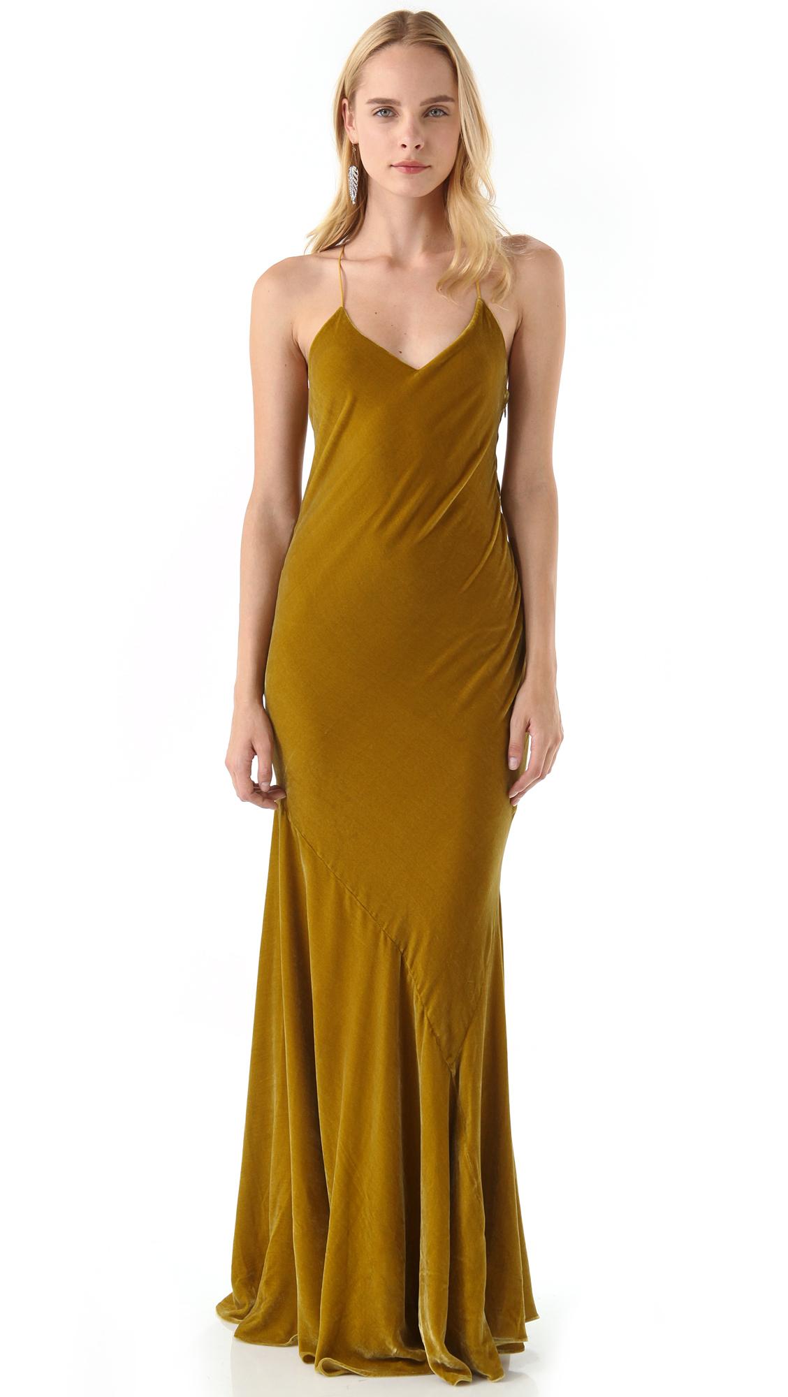 Haute Hippie Panne Velvet Gown