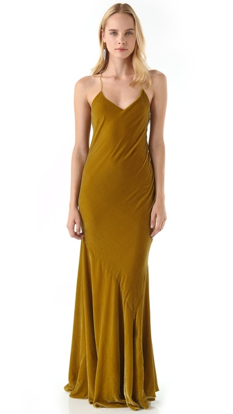 Haute Hippie Panne Velvet Gown
