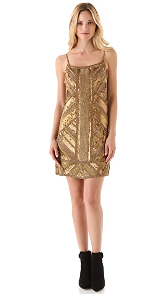 Haute Hippie Embellished Mini Dress