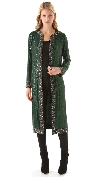 Haute Hippie Sequin Crystal Coat