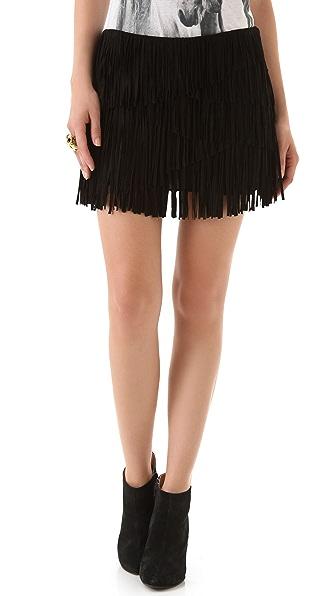 Haute Hippie Suede Miniskirt