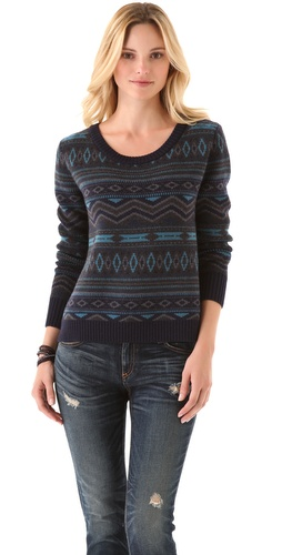 Shop Haute Hippie Fair Isle Cropped Sweater and Haute Hippie online - Apparel,Womens,Sweaters,Pull_Over, online Store