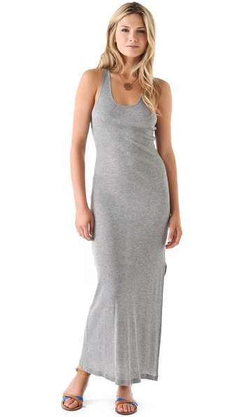 Haute Hippie Haute Hoodie Ribbed Tank Maxi Dress