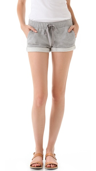 Haute Hippie Haute Hoodie Drawstring Shorts
