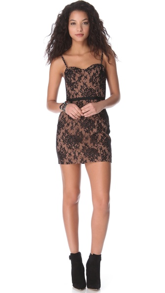 Haute Hippie Lace Corset Dress