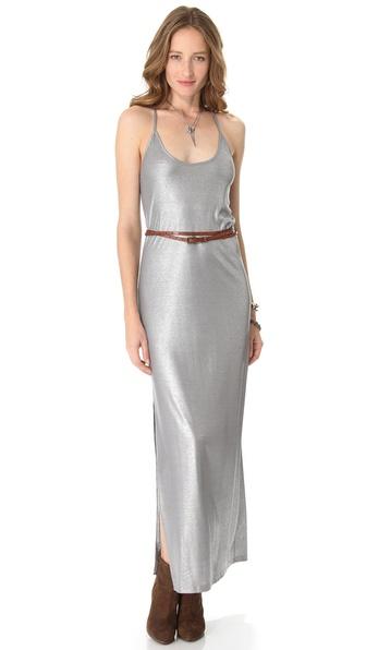 Haute Hippie T Back Metallic Gown