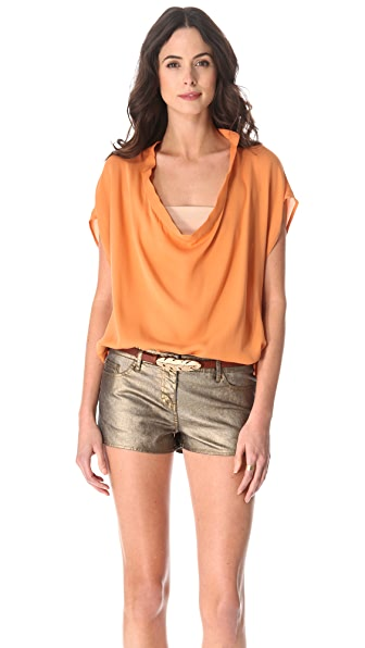 Haute Hippie Cowl Neck Blouse