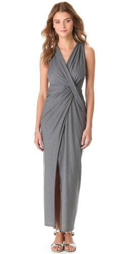 Shop Haute Hippie Draped Jersey Gown and Haute Hippie online - Apparel,Womens,Dresses,Cocktail,Night_Out, online Store