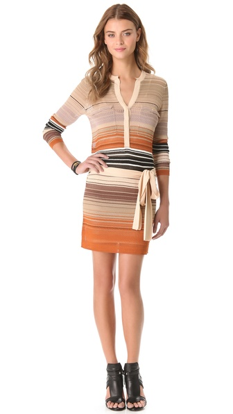 Haute Hippie Ombre Striped Dress